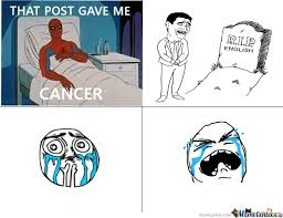 Spiderman Meme Cancer - spider man died because of cancer by jiedhovik meme center