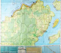 Wisconsin Topographic Map by Trail Map Of Apostle Islands National Lakeshore Wisconsin