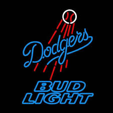 light display los angeles bud light los angeles dodgers neon signs neon beer sign real glass