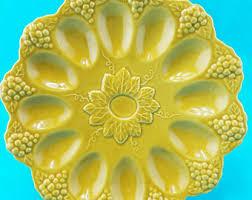 egg plate deviled egg plate etsy