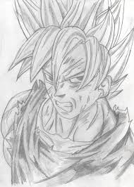 goku super saiyan sketch by overlordstarscream on deviantart
