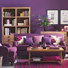 furniture cozy purple living room with purple sofa and purple