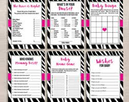 zebra baby shower zebra baby shower etsy