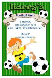 Personalised Birthday Invitation Cards Football Birthday Card U2013 Gangcraft Net