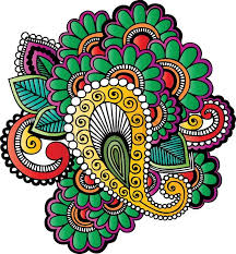 indian style henna tattoo stock vector colourbox