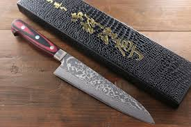 yoshimi kato vg10 black finish damascus japanese chef u0026 santoku