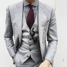 mens light gray 3 piece suit 2017 fall autumn light gray mens wedding prom dinner suits 3 piece
