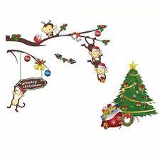 christmas tree stickers christmas lights decoration