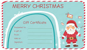 printable christmas gift vouchers santa messages christmas gift certificate template santagiftcard