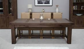 solid wood dining room table sets endearing walnut dining furniture masculine brown painted wooden