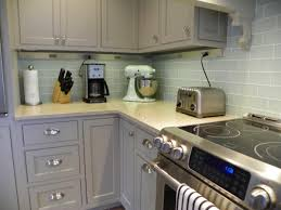 white glass tile backsplash gray cabinets amazing tile