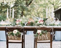rustic weddings wood chair signs etsy