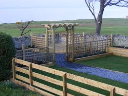 timber fencing u0026 trellis work east coast gardens north berwick