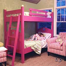 Bunk Beds Pink Fence Bunk Bed And Luxury Kid Furnishings Including Armoires In