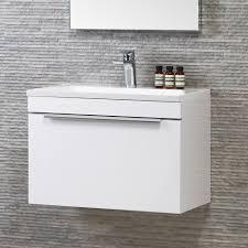 bathroom hudson reed quartet black wood wall hung vanity unit