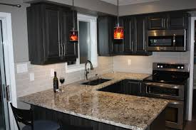 Kitchen Ideas With Black Cabinets by Furniture Decorations Kitchen Ideas With Bianco Antico Granite