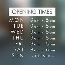 10 best salon opening hours signs images on salon