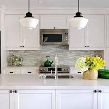 White Glass Tile Backsplash Design Ideas - Gray glass tile backsplash