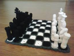 unusual chess sets crochet fanatic chess set