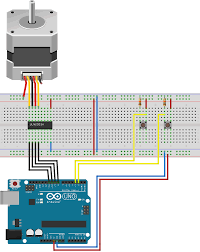 Stepper Motor Driver Wiring Diagram Project 17 Stepper Motor Direction Control Using 2 Buttons With The Arduino 232 Png