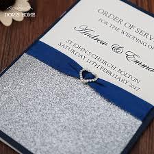order wedding programs online online shop blue silver glitter wedding program booklet modern