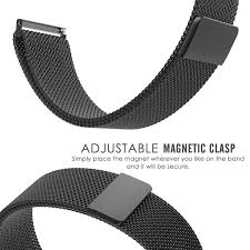 amband fully magnetic closure clasp mesh loop milanese stainless