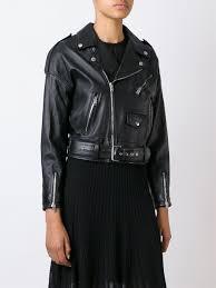 biker jacket women yves saint laurent ysl laurent saint laurent cropped leather