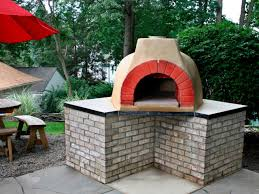 outdoor minimalist home backyard outdoor brick oven small brick