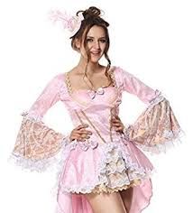 Baroque Halloween Costumes Deluxe Ladies Pink Marie Antoinette Historical Rich Baroque