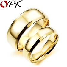 popular cheap gold rings for men buy cheap cheap gold opk simple gold color rings casual 316l stainless