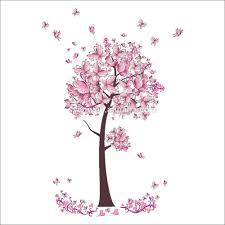syene new christmas flower decorations pink flower 3d butterfly