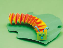 How To Make A Paper Worm - centopeia de papel escola caterpillar and paper