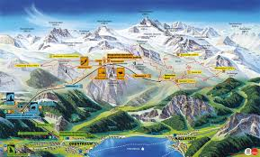 Alps On A Map Panorama Map Summer Dachstein Krippenstein