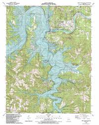 Missouri Road Map Table Rock Dam Topographic Map Mo Usgs Topo Quad 36093e3
