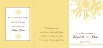 sunflower wedding programs wedding programs by purpletrail