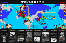War World 2 Map by World War 2 Allies And Axis Pitribe