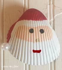 santa shell ornament hometalk
