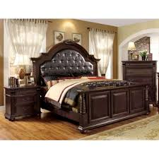 furniture of america angelica english style brown cherry 4 piece
