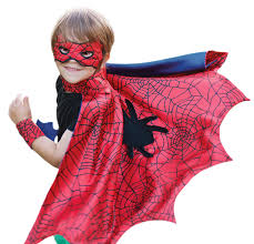 halloween costume spiderman spiderman cape with mask and wristcuffs