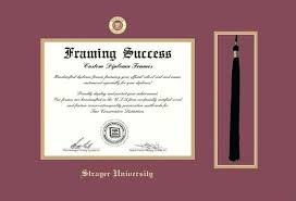 diploma frame size strayer diploma frame with tassel cut out maroon and