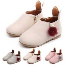 boots sale uk ebay pom fur ankle flat leather boots toddlers children zip