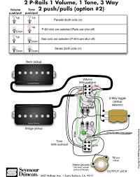 seymour duncan p rails wiring diagram 2 p rails 1 vol 1 tone 3