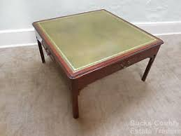 Leather Top Coffee Table Square Leather Coffee Table