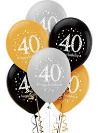 40th birthday balloons delivered 40th birthday balloons party city