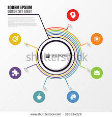Conceptmodern Infographic Report Concept Modern Business Template Stock Vector