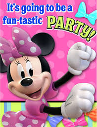 minnie mouse party supplies minnie mouse pink bows party invitations 8pk parties4kids
