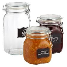 Labels For Kitchen Canisters Bormioli Hermetic Glass Jars With Chalkboard Labels The