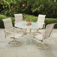5 patio set hton bay statesville pewter 5 aluminum outdoor dining set