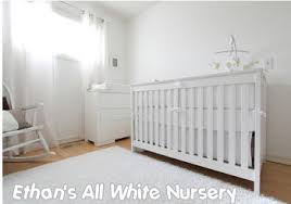 All White Crib Bedding Ethan S All White Nursery