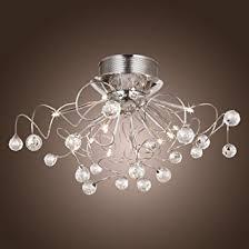 Ceiling Mount Chandelier Light Fixture Lightinthebox Modern Chandelier With 11 Lights Chrom